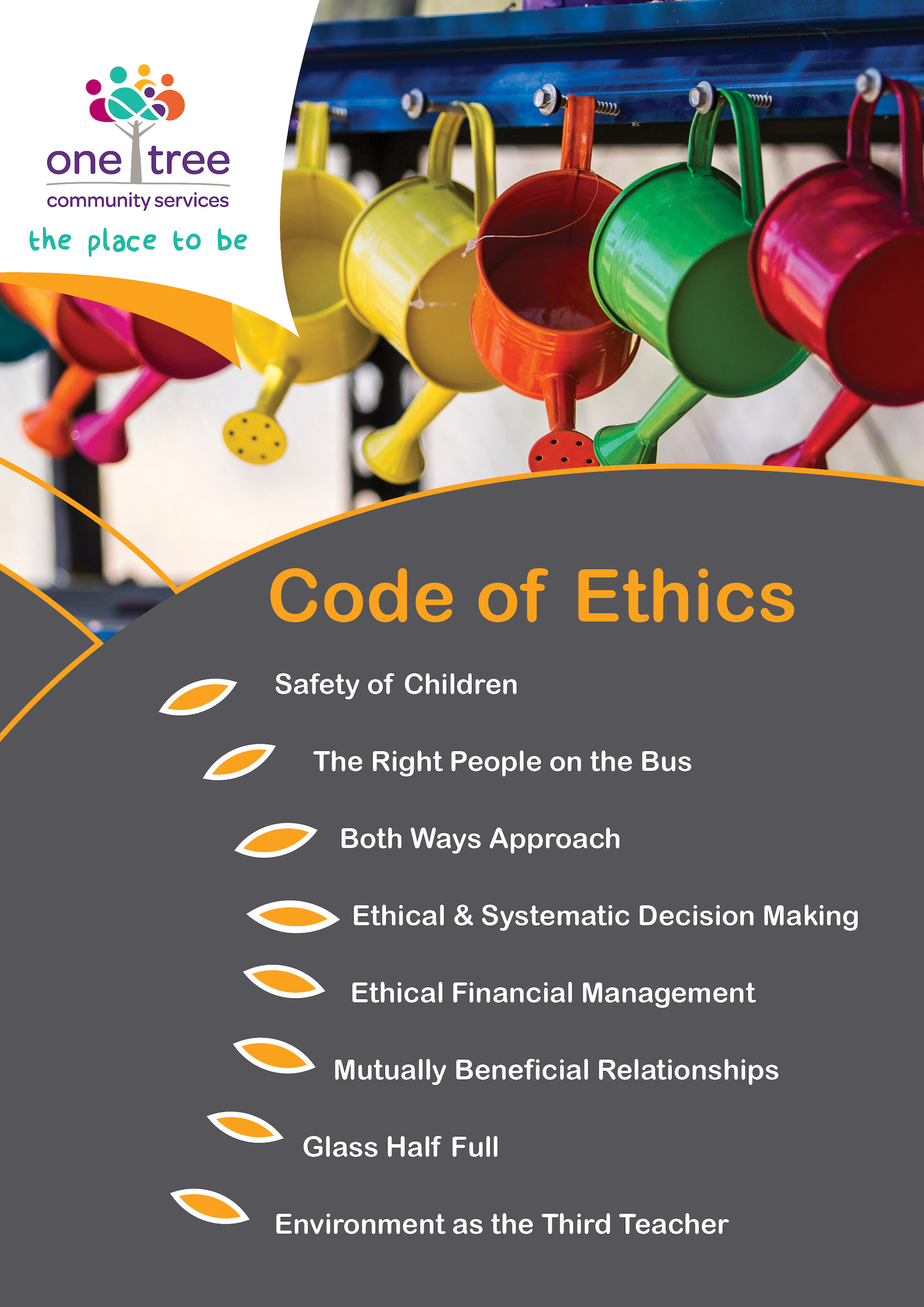 code of ethics childcare poster